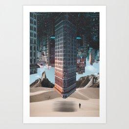 New York Upside Down Surreal Art Print