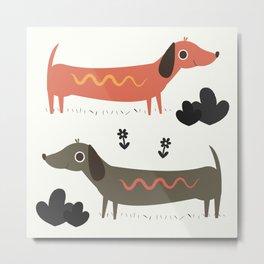 Wiener Dogs Metal Print