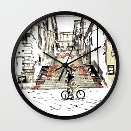 Art Stairs Wall Clock