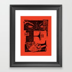 E for evil Framed Art Print