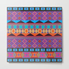 Colorful Ethnic African Style Tribal Pattern Metal Print