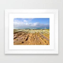 St. Andrews Beach Ocean Rock Ridges Framed Art Print