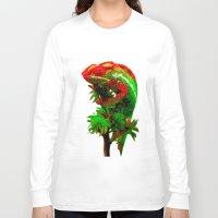 rasta Long Sleeve T-shirts featuring Rasta Chameleon by Gira Patel