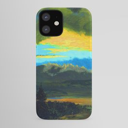 Frederic Edwin Church Sunset Across the Hudson Valley iPhone Case