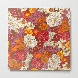 Retro Floral I Metal Print