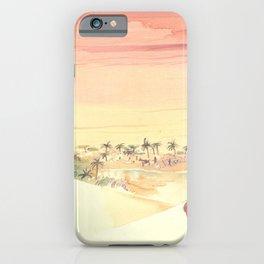 Watercolor of Tuareg riding a camel in the Sahara desert iPhone Case