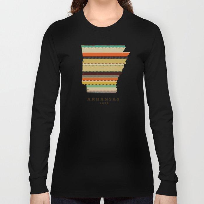 Arkansas state map  Long Sleeve T-shirt