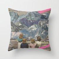 rocks Throw Pillows featuring Rocks by Sarah Eisenlohr