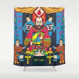 Pear God Shower Curtain