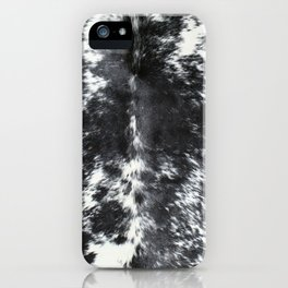 Black and white cowhide iPhone Case
