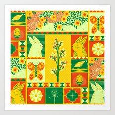 Spring Square Art Print