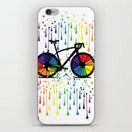 Rainbow raindrops iPhone Skin