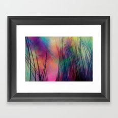 Tropical Feather Abstract III Framed Art Print