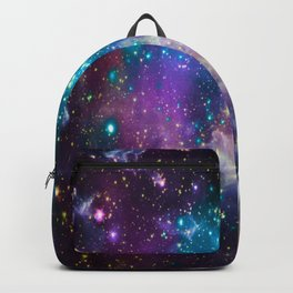 Colorful Sparkling Stars Nursery Backpack
