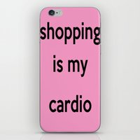 shopping iPhone & iPod Skins featuring SHOPPING by I Love Decor