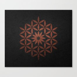 The Flower of Life - Ancient copper Canvas Print