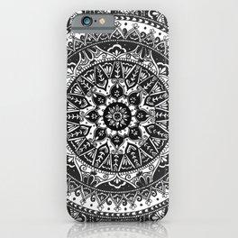 Black and White Mandala Pattern iPhone Case