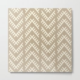 Stitched Arrows in Tan Metal Print