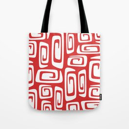 Mid Century Modern Cosmic Abstract 612 Red Tote Bag