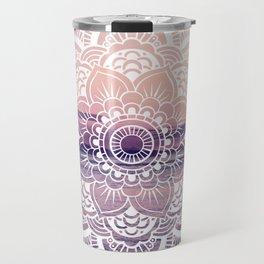 Water Mandala Amethyst & Mauve Travel Mug
