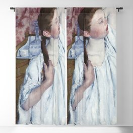 Girl Arranging Her Hair (1886) by Mary Cassatt Blackout Curtain