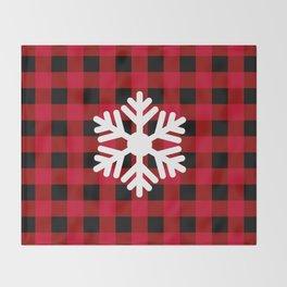 Red Buffalo Check - snowflake - more colors Throw Blanket