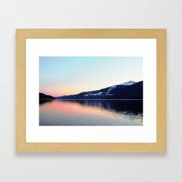 Sunset on Arrow Lake Framed Art Print