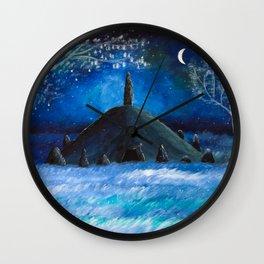 The Lonely Barrow Wall Clock