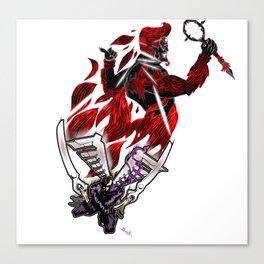 The Devil's hairdresser Canvas Print