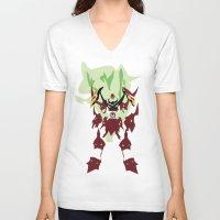 gurren lagann V-neck T-shirts featuring TENGEN TOPPA GURREN LAGANN by JHTY