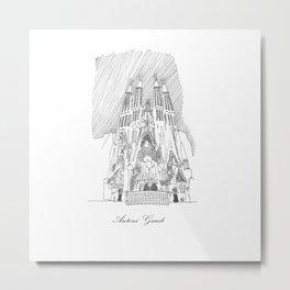 Antoni Gaudi Metal Print