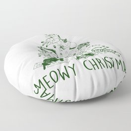 Meowy Christmas Cat Tree Floor Pillow