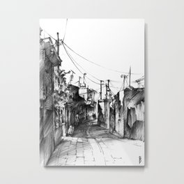 Rhodes backalley Metal Print