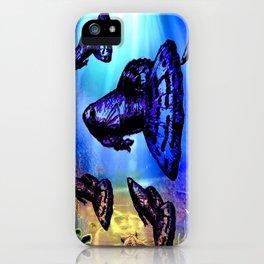 Blue & Purple Dragon Fancy Guppy iPhone Case
