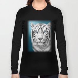 Blue Eyed White Tiger Long Sleeve T-shirt