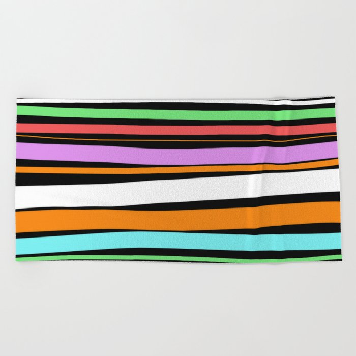 Pastel Brush Strokes Beach Towel