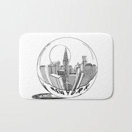 New York in a glass ball . Art . Bath Mat