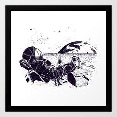 Astronaut TV Art Print