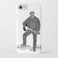 rock n roll iPhone & iPod Cases featuring Rock 'N' Roll by The Curly Whirl Girly.