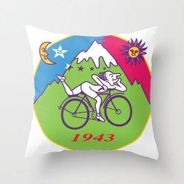 Albert Hofmann Bicycle Day LSD 1943 Circle Throw Pillow