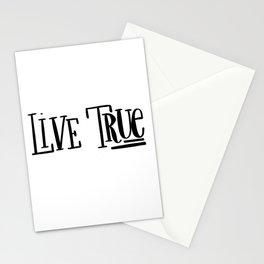 Live True: white Stationery Cards