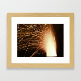hot flames Framed Art Print