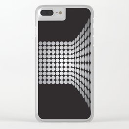 WHITE DOTS ON A BLACK BACKGROUND Abstract Art Clear iPhone Case
