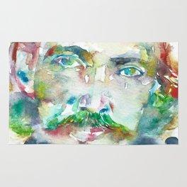 ROBERT LOUIS STEVENSON - watercolor portrait Rug