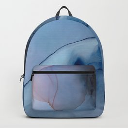 cloudy day fluid ink abstract painting Backpack