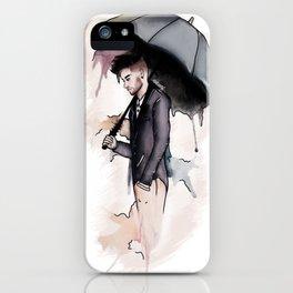Rainy Watercolor Zayn iPhone Case