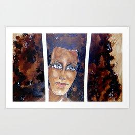 Face Between Bars! Art Print