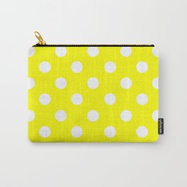 POLKA DOT DESIGN (WHITE-YELLOW) Carry-All Pouch