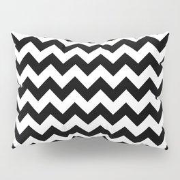 Black and White Chevron Print Pillow Sham
