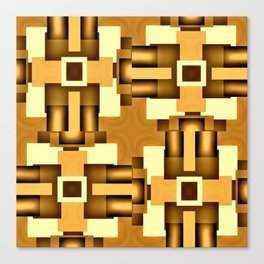 Gold Beige Pipe System,Streampunk Canvas Print
